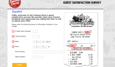 Famous-Dave-s-Guest-Satisfaction-Survey-Welcome