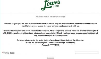 LFS Guest Experience Survey