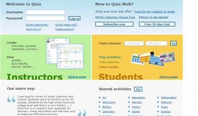 quia web login